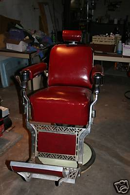 Belmont Barber Chair Circa 1950s Includes Kid Booster