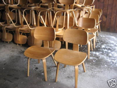 Up For Bid Are 12 (twelve) Vintage Thonet Bent Plywood Chairs.