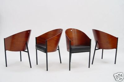 4 Eames Era Danish Mid Century Starck Cafe Costes Chair